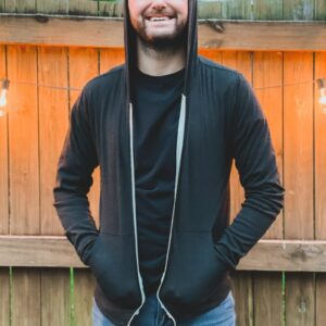 Charcoal Grey Long Sleeve Zip Up Front